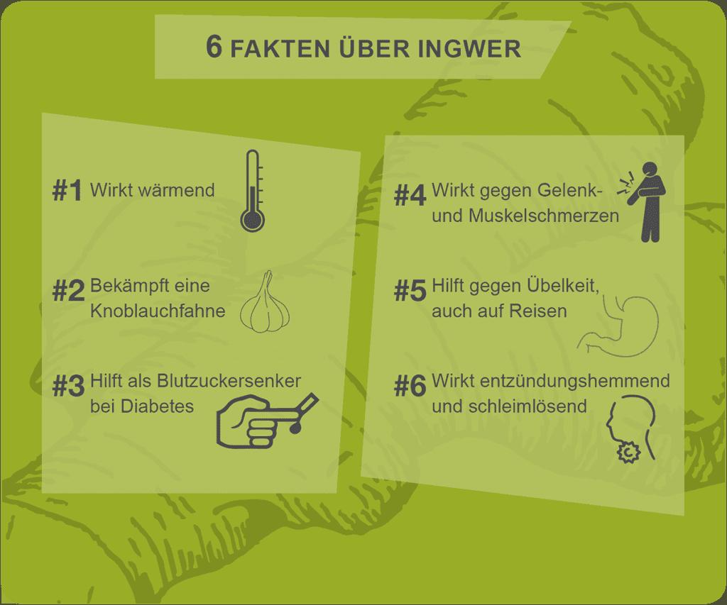 6 Fakten über Ingwer